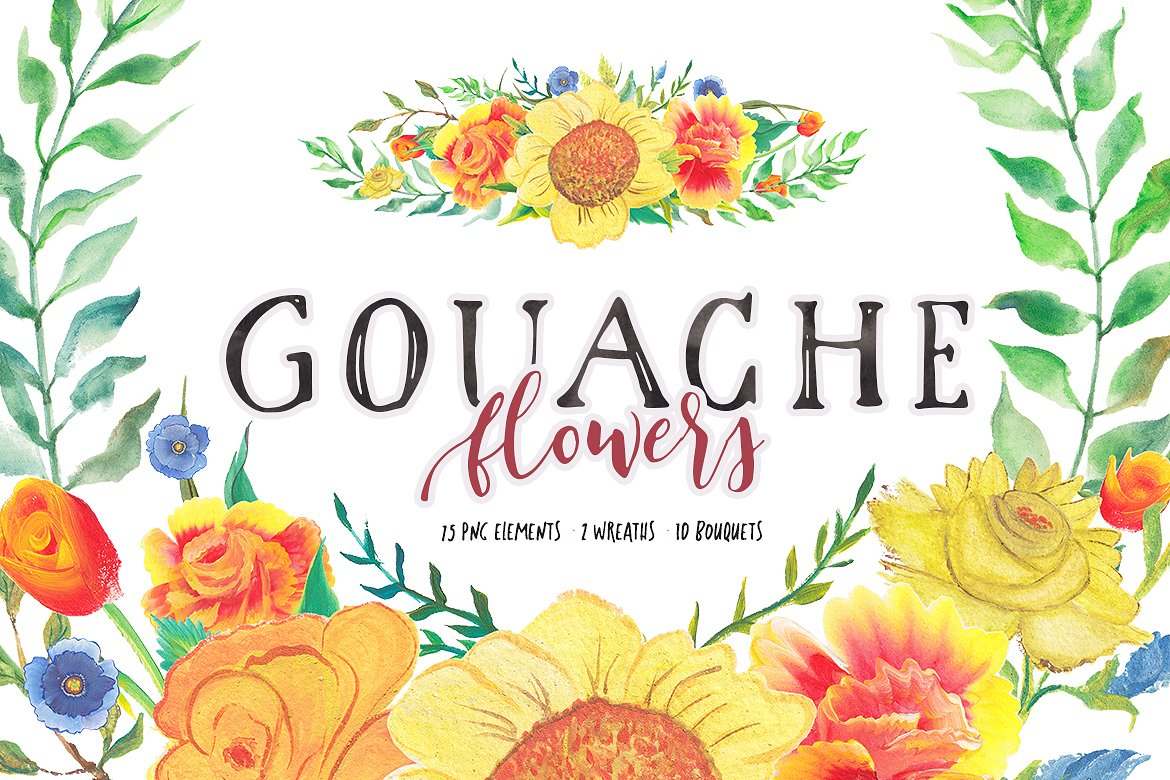 Gouache Flowers Graphic By Blessed Print