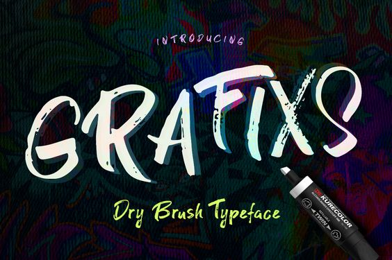 Graficx Font By Blessed Print