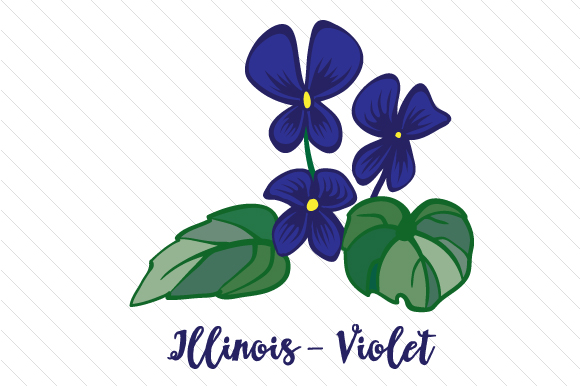 State Flower: Illinois Violet State Flowers Craft Cut File By Creative Fabrica Crafts