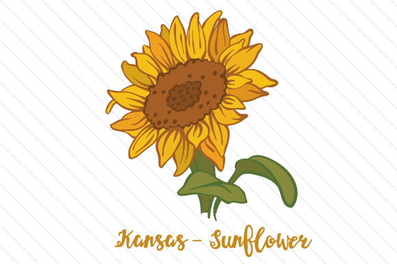 State Flower: Kansas Sunflower State Flowers Craft Cut File By Creative Fabrica Crafts