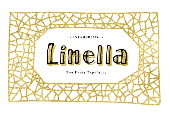Print on Demand: Linella Display Font By Blessed Print