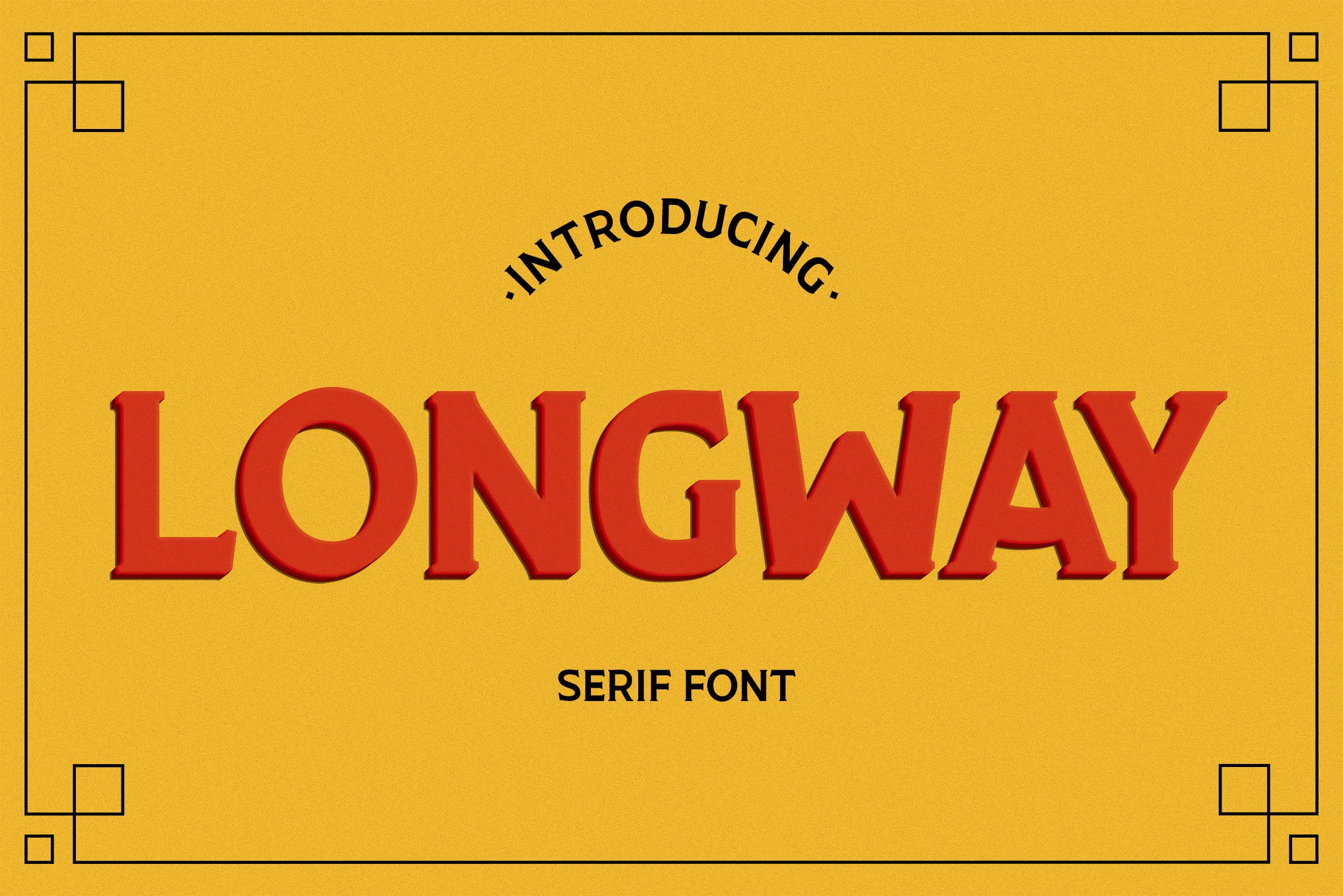 Print on Demand: Longway Serif Font By Corgi Astronaut - Image 1