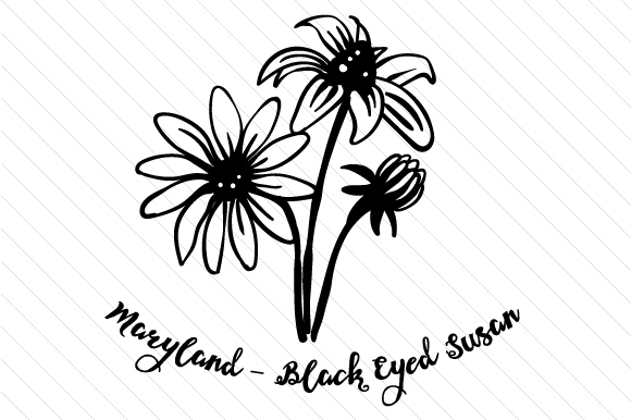State Flower: Maryland Black Eyed Susan State Flowers Craft Cut File By Creative Fabrica Crafts - Image 2