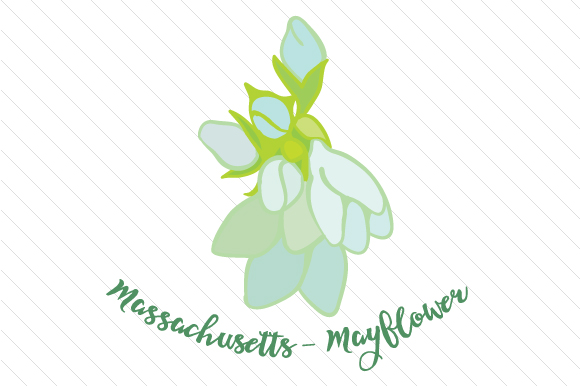 State Flower: Massachusetts Mayflower State Flowers Craft Cut File By Creative Fabrica Crafts