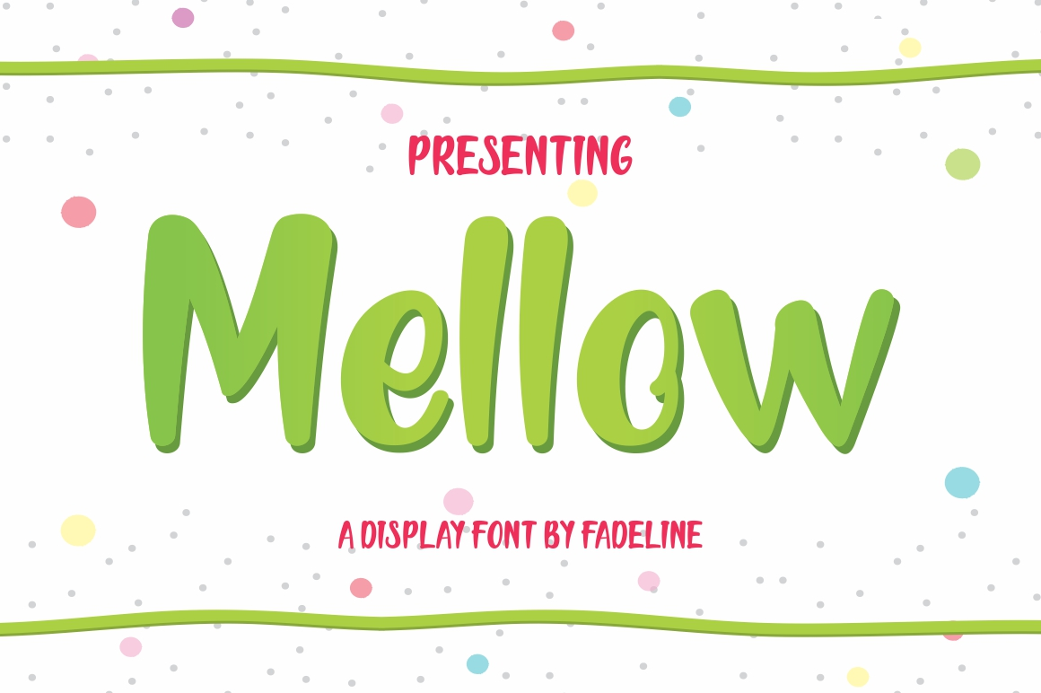 Print on Demand: Mellow Display Font By FadeLine