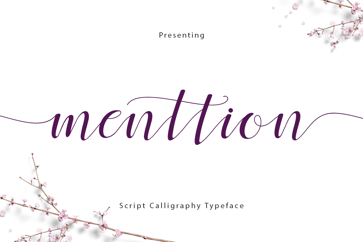 Print on Demand: Menttion Script Script & Handwritten Font By FadeLine