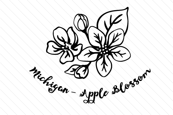 State Flower: Michigan Apple Blossom State Flowers Craft Cut File By Creative Fabrica Crafts - Image 2