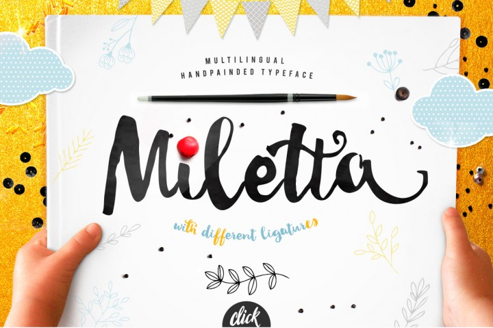 Miletta Font By Blessed Print