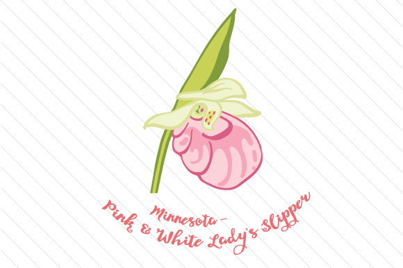 State Flower: Minnesota Pink and White Lady S Slipper State Flowers Craft Cut File By Creative Fabrica Crafts