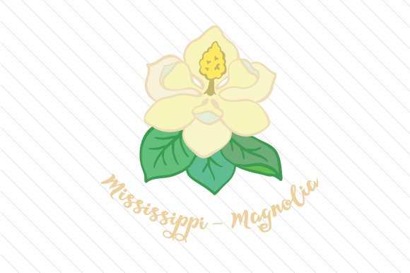 State Flower: Mississippi Magnolia State Flowers Craft Cut File By Creative Fabrica Crafts