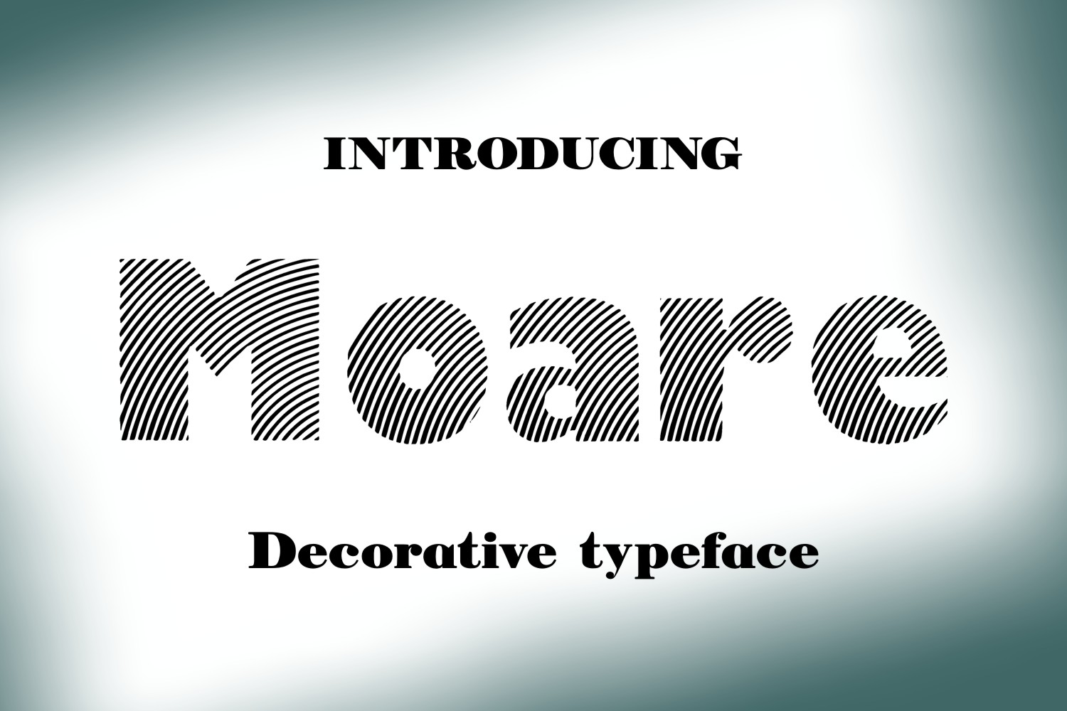 Print on Demand: Moare Light Decorative Font By Eva Barabasne Olasz
