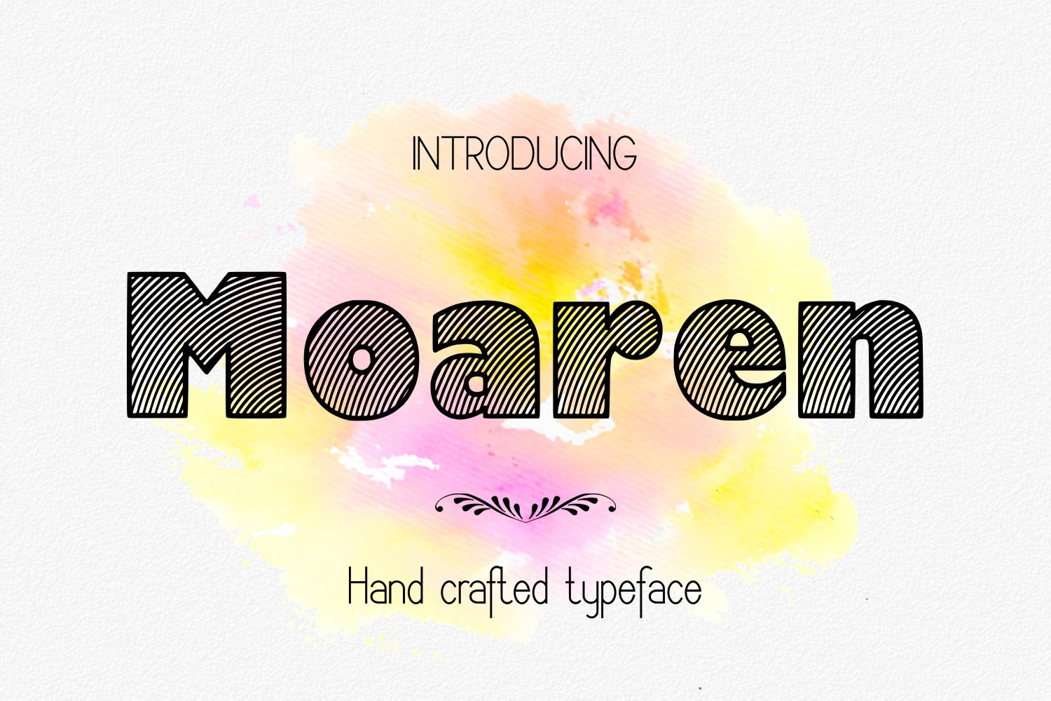 Print on Demand: Moaren Decorative Font By Eva Barabasne Olasz