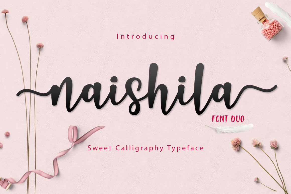Print on Demand: Naishila Script Script & Handwritten Font By FadeLine
