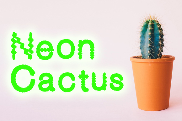 Print on Demand: Neon Cactus Decorative Font By GraphicsBam Fonts - Image 2