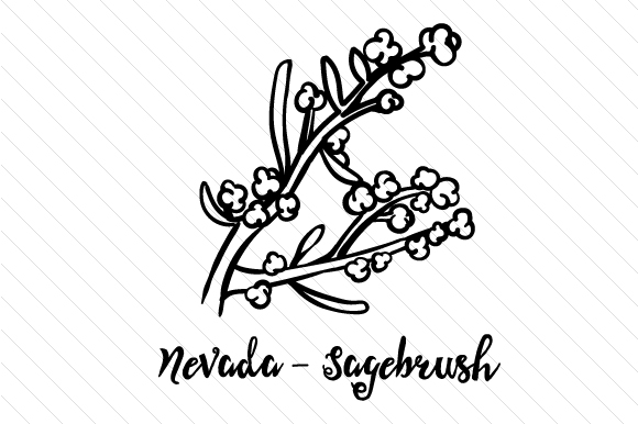Download Free State Flower Nevada Sagebrush Svg Cut File By Creative Fabrica for Cricut Explore, Silhouette and other cutting machines.