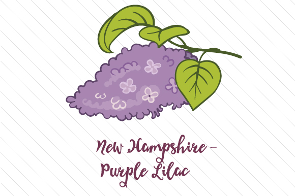 State Flower: New Hampshire Purple Lilac State Flowers Craft Cut File By Creative Fabrica Crafts