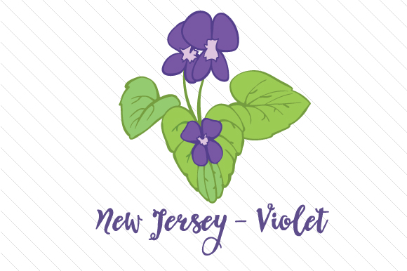 State Flower: New Jersey Violet State Flowers Craft Cut File By Creative Fabrica Crafts