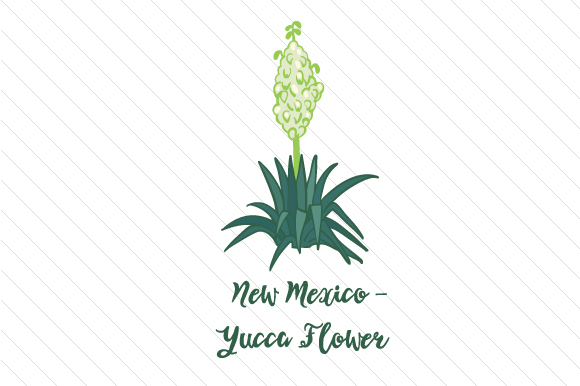 State Flower: New Mexico Yucca Flower State Flowers Craft Cut File By Creative Fabrica Crafts