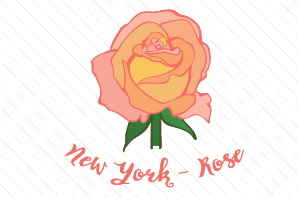 State Flower: New York Rose State Flowers Craft Cut File By Creative Fabrica Crafts