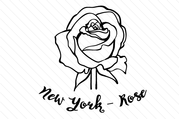 Download Free State Flower New York Rose Svg Cut File By Creative Fabrica for Cricut Explore, Silhouette and other cutting machines.