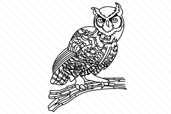 Download Free Owl On Tree Branch Svg Cut File By Creative Fabrica Crafts for Cricut Explore, Silhouette and other cutting machines.