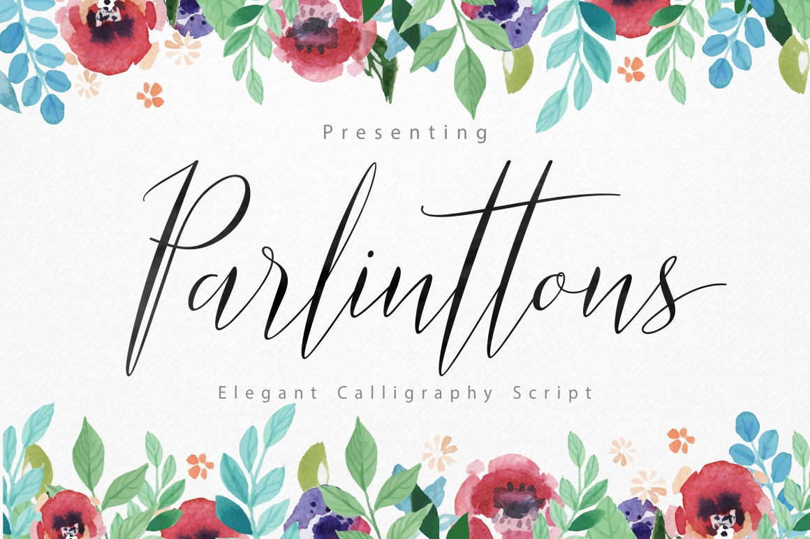 Print on Demand: Parlinttons Script Script & Handwritten Font By FadeLine