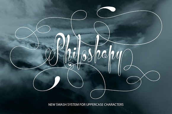 Print on Demand: Philoshopy Script & Handwritten Font By Royaltype