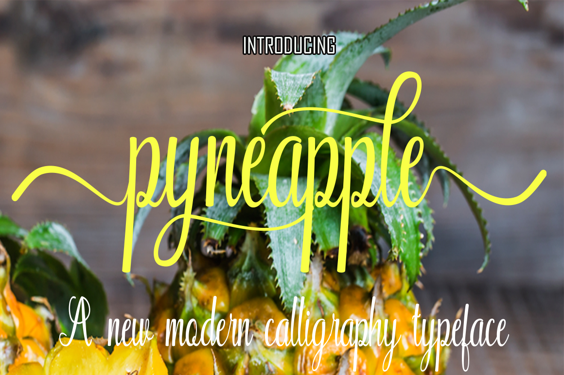 Print on Demand: Pyneapple Script & Handwritten Font By Naqsya.Co