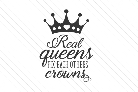 Download Free Real Queens Fix Each Others Crowns Svg Cut File By Creative SVG Cut Files