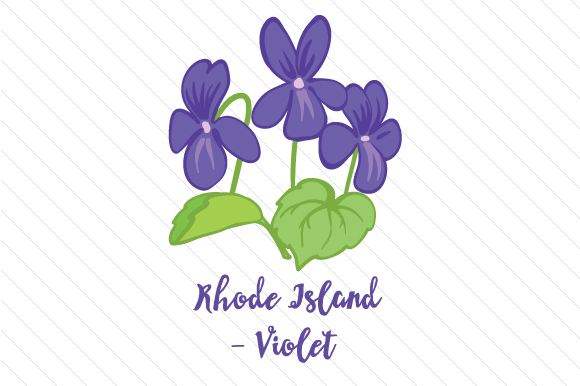 State Flower: Rhode Island Violet State Flowers Craft Cut File By Creative Fabrica Crafts