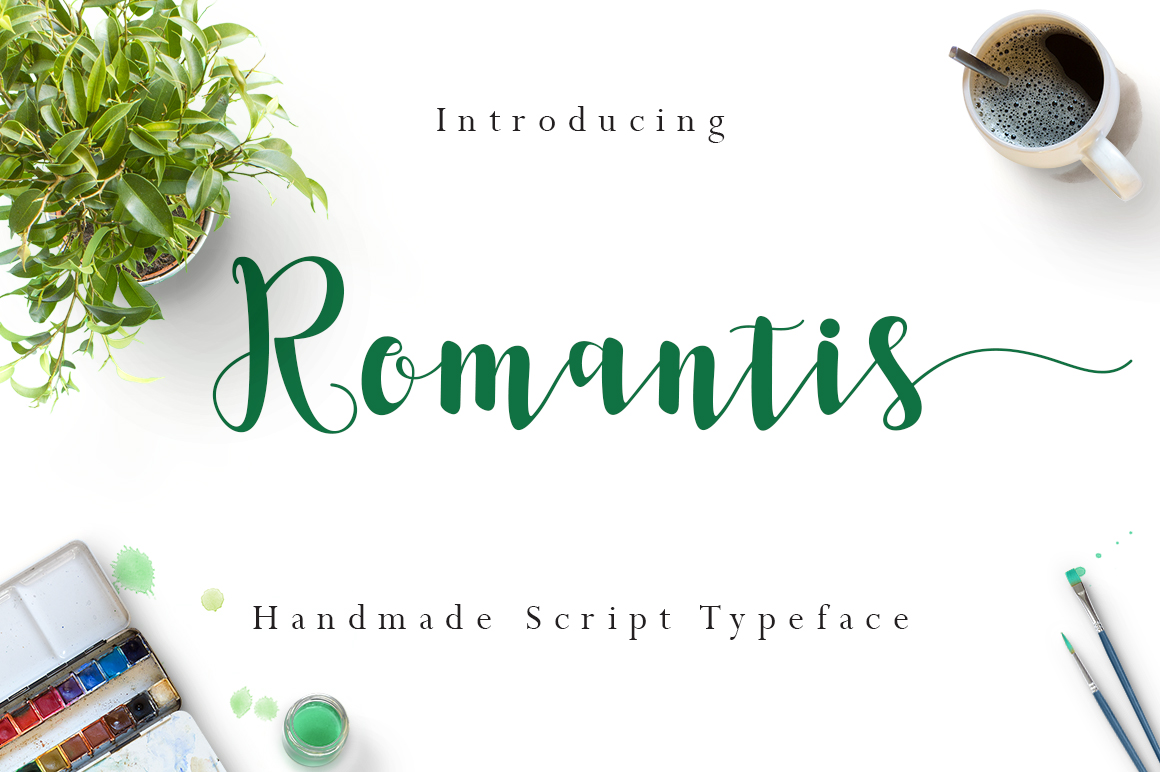 Print on Demand: Romantis Script & Handwritten Font By FadeLine