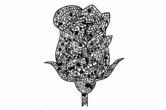 Rose – Intricate Cut File Intricate cuts Craft Cut File By Creative Fabrica Crafts