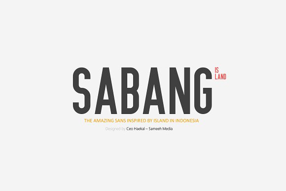 Print on Demand: Sabang Island Sans Serif Font By Graphicfresh - Image 1