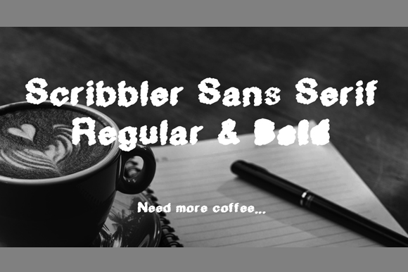 Print on Demand: Scribbler Sans Serif Font By GraphicsBam Fonts - Image 2