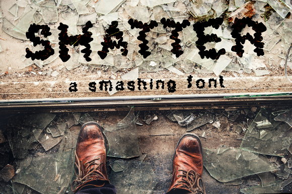 Print on Demand: Shatter Display Font By GraphicsBam Fonts