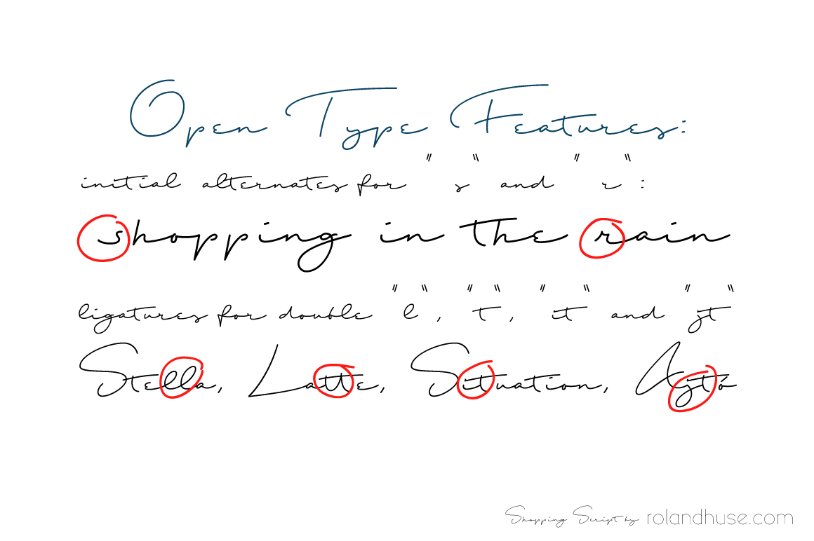 Print on Demand: Shopping Script Script & Handwritten Font By Roland Hüse Design - Image 4