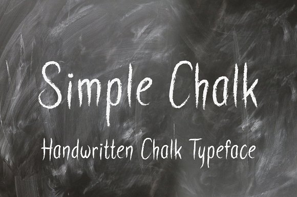 Print on Demand: Simple Chalk Script & Handwritten Font By Royaltype