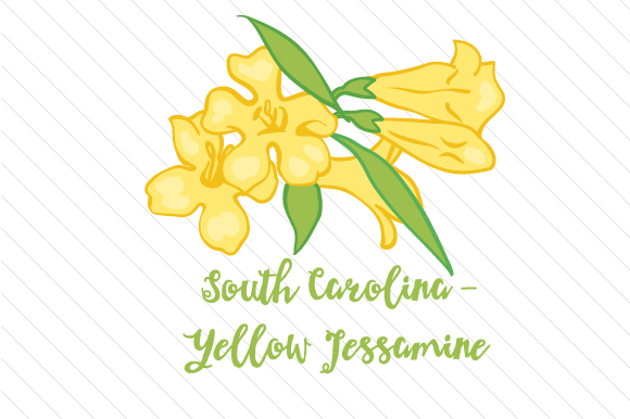 State Flower: South Carolina Yellow Jessamine State Flowers Craft Cut File By Creative Fabrica Crafts