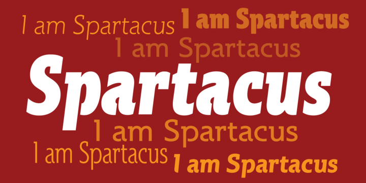 Print on Demand: Spartacus Family Slab Serif Font By Alan Meeks