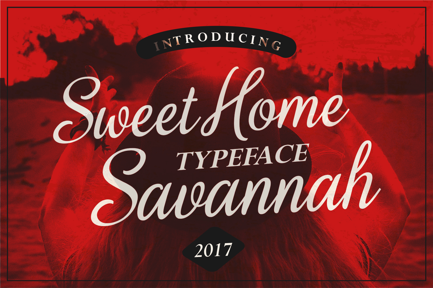 Print on Demand: Sweet Home Savannah Display Font By Spasova