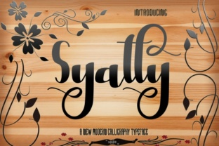 Syatty Font by Creativedrsign 1