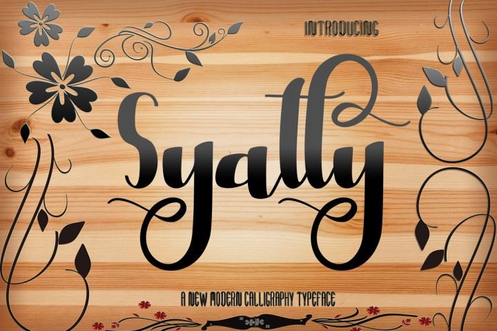 Print on Demand: Syatty Script & Handwritten Font By Creative drsign