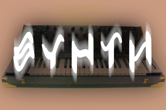 Print on Demand: Synth Display Font By GraphicsBam Fonts