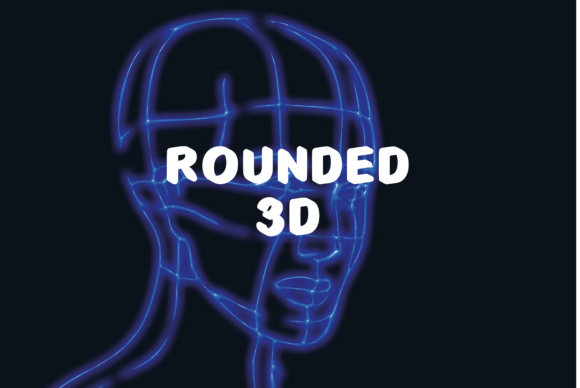 Print on Demand: Rounded 3D Display Font By GraphicsBam Fonts