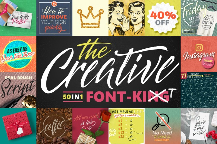 The Creative Font By Blessed Print