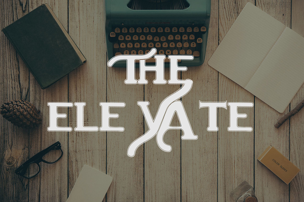 Print on Demand: The Elevate Display Font By Ajir