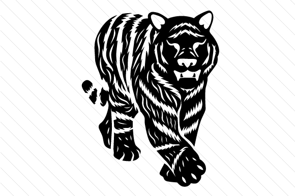 Download Free Tiger Svg Cut File By Creative Fabrica Crafts Creative Fabrica for Cricut Explore, Silhouette and other cutting machines.