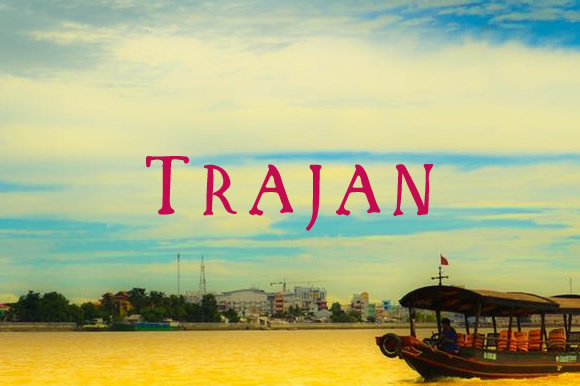 Trajan Font By Blessed Print