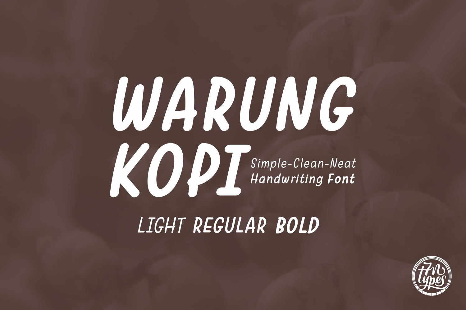 Print on Demand: Warung Kopi Script & Handwritten Font By Situjuh