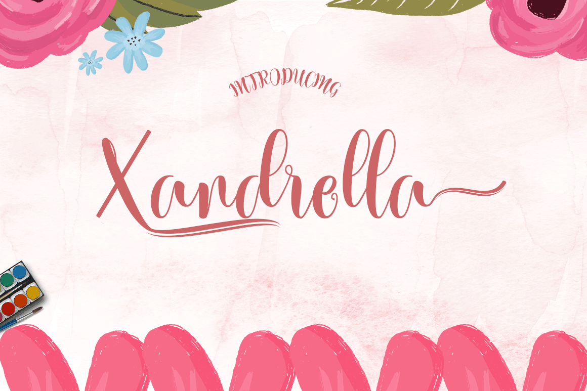Print on Demand: Xandrella Script & Handwritten Font By Meutuwah